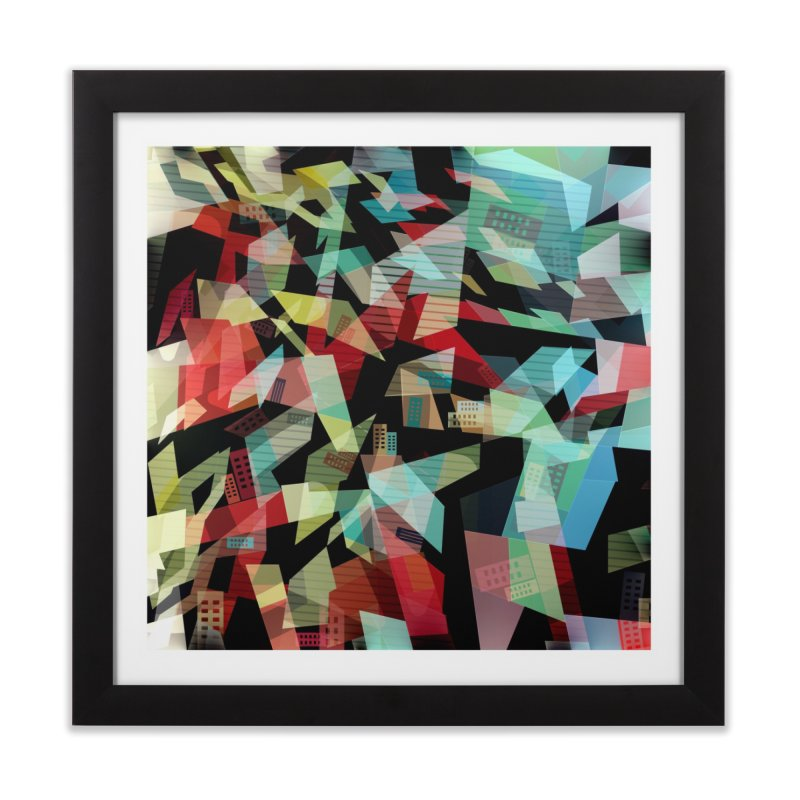 Abstract city in the mirror Home Framed Fine Art Print by fruityshapes's Shop