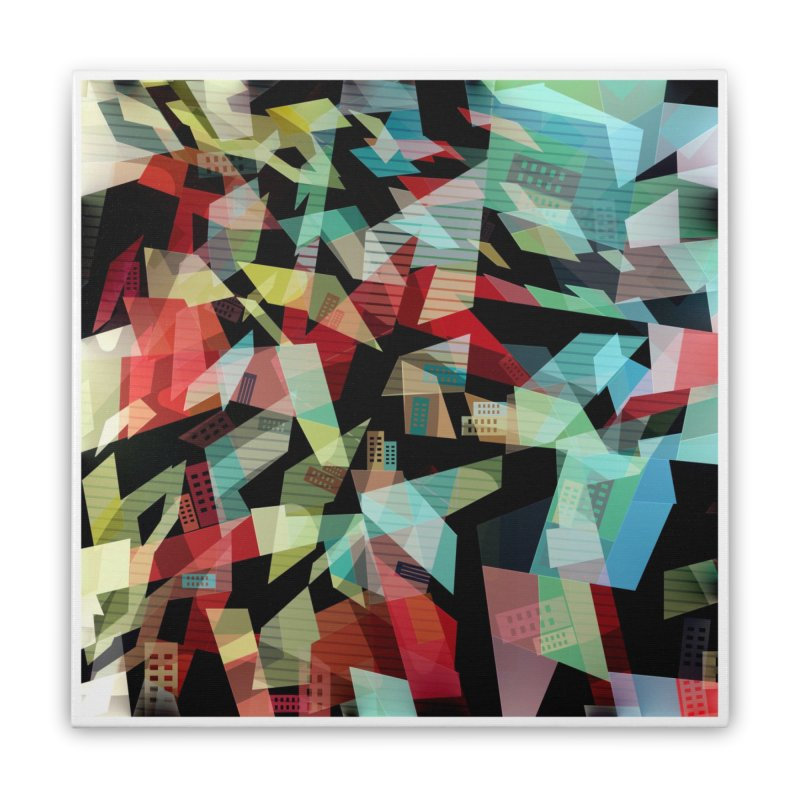Abstract city in the mirror Home Stretched Canvas by fruityshapes's Shop