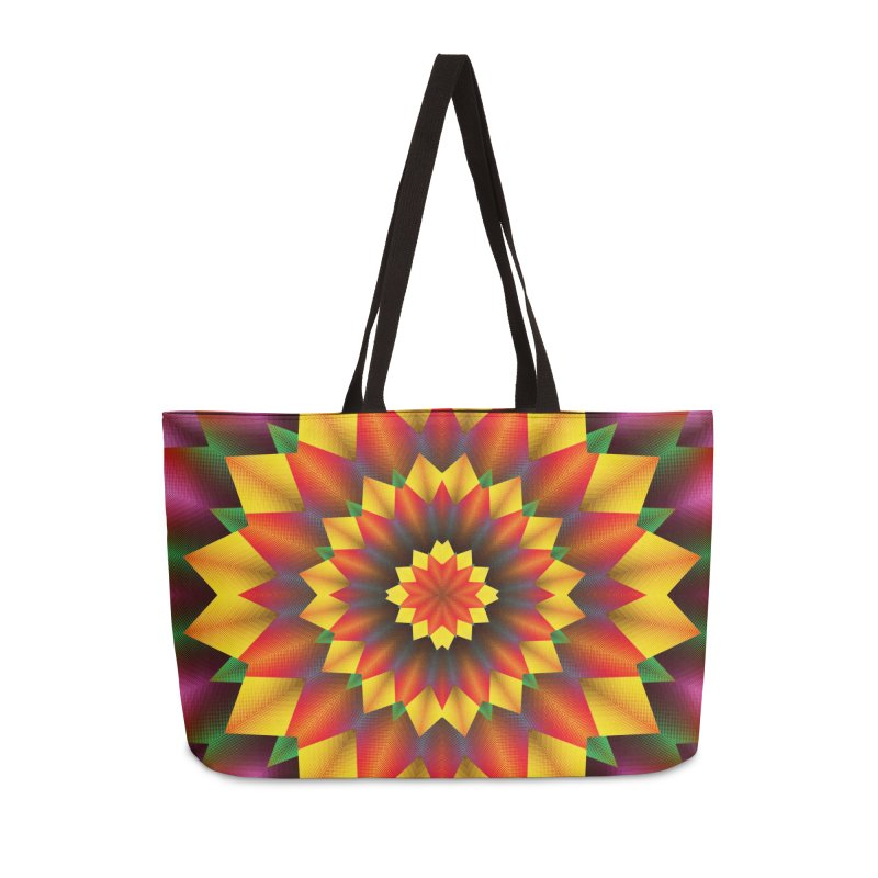 Abstract colorful flowers Mandala Accessories Bag by fruityshapes's Shop