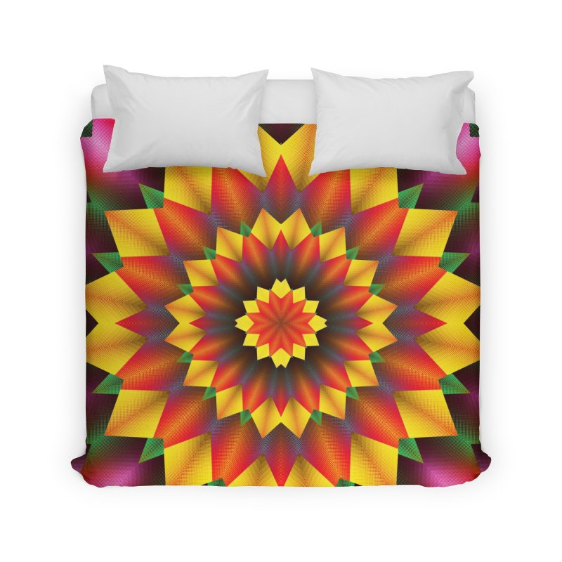 Abstract colorful flowers Mandala Home Duvet by fruityshapes's Shop