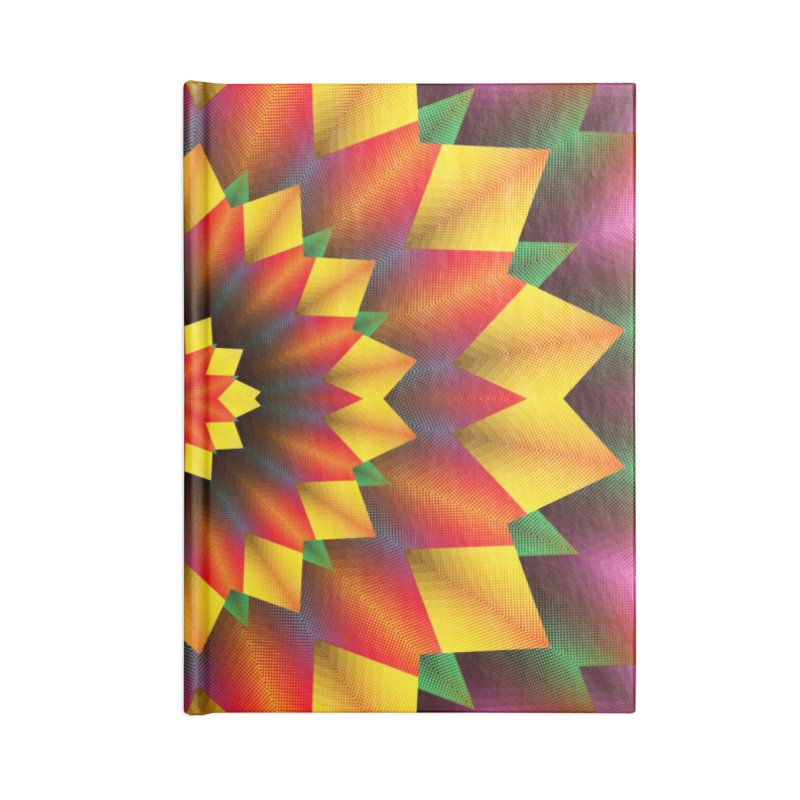 Abstract colorful flowers Mandala Accessories Lined Journal Notebook by fruityshapes's Shop