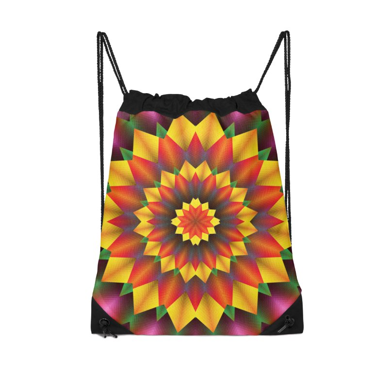 Abstract colorful flowers Mandala Accessories Drawstring Bag Bag by fruityshapes's Shop