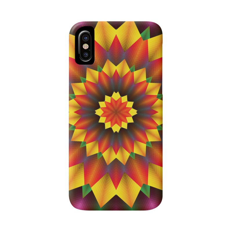 Abstract colorful flowers Mandala Accessories Phone Case by fruityshapes's Shop