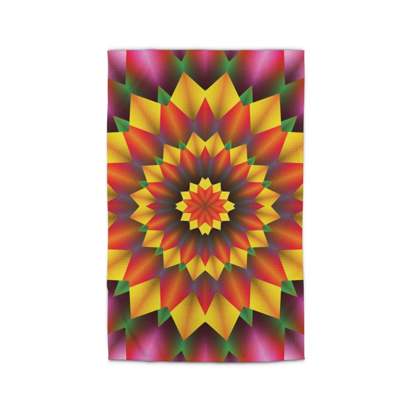 Abstract colorful flowers Mandala Home Rug by fruityshapes's Shop