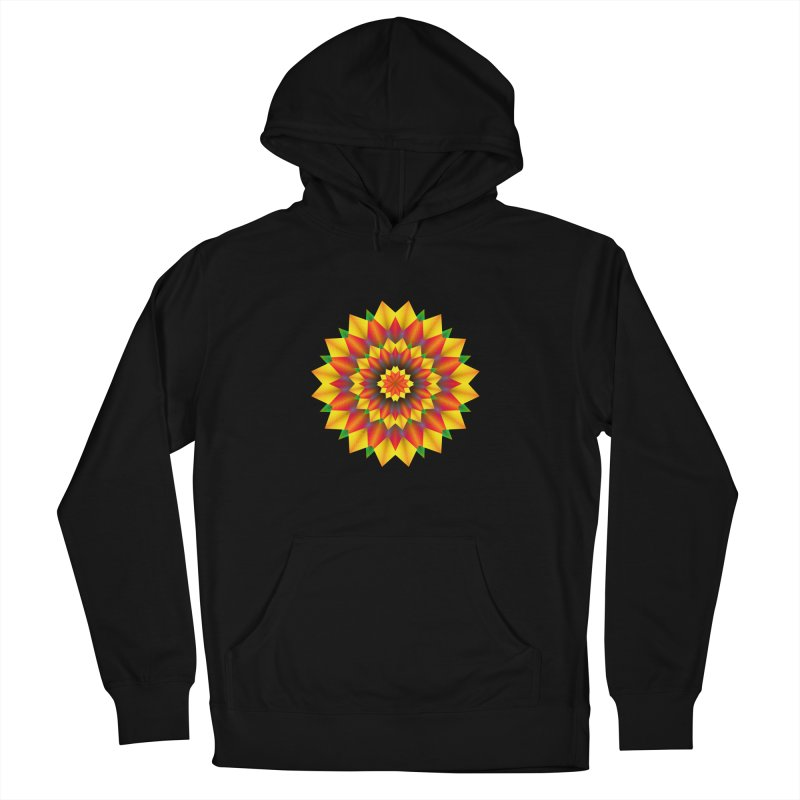 Abstract colorful flowers Mandala Women's French Terry Pullover Hoody by fruityshapes's Shop