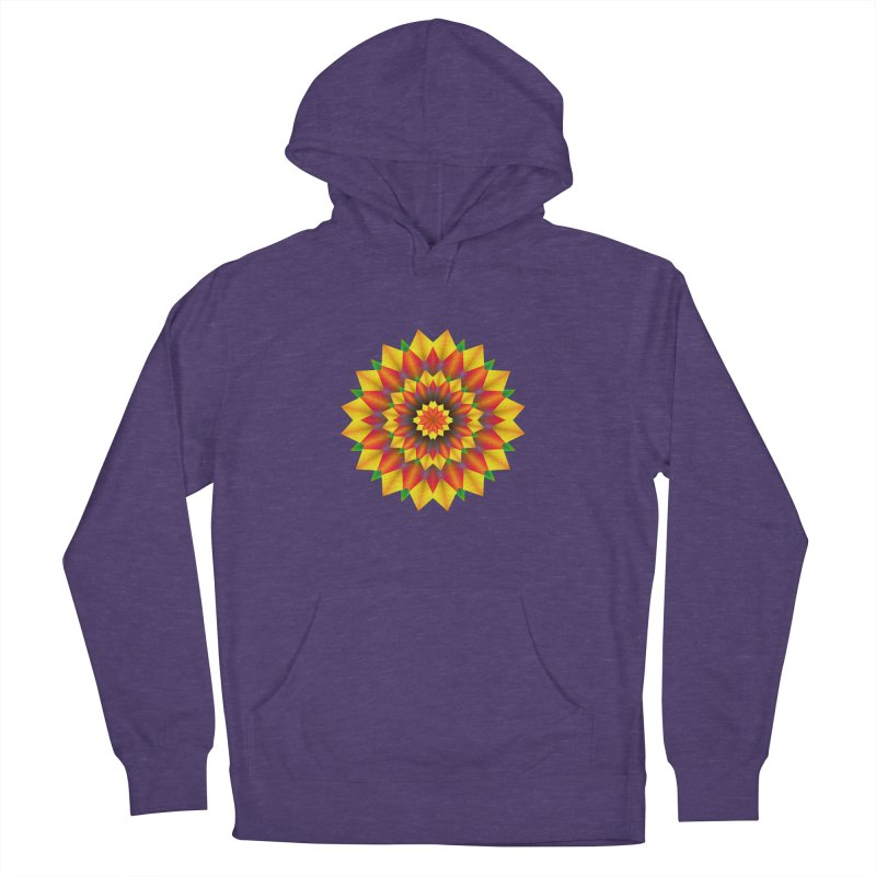 Abstract colorful flowers Mandala Men's French Terry Pullover Hoody by fruityshapes's Shop
