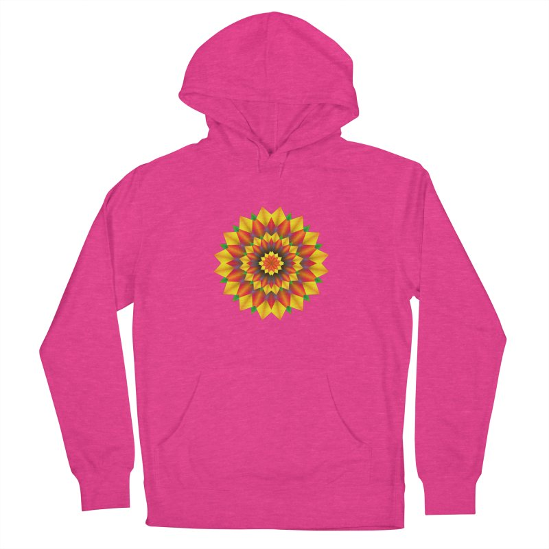 Abstract colorful flowers Mandala Men's Pullover Hoody by fruityshapes's Shop