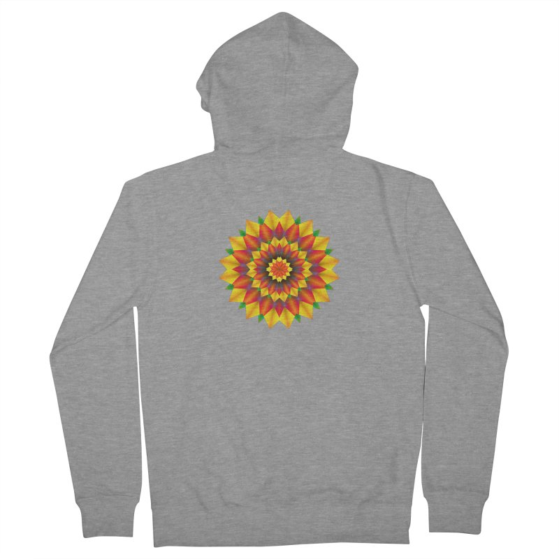 Abstract colorful flowers Mandala Women's French Terry Zip-Up Hoody by fruityshapes's Shop