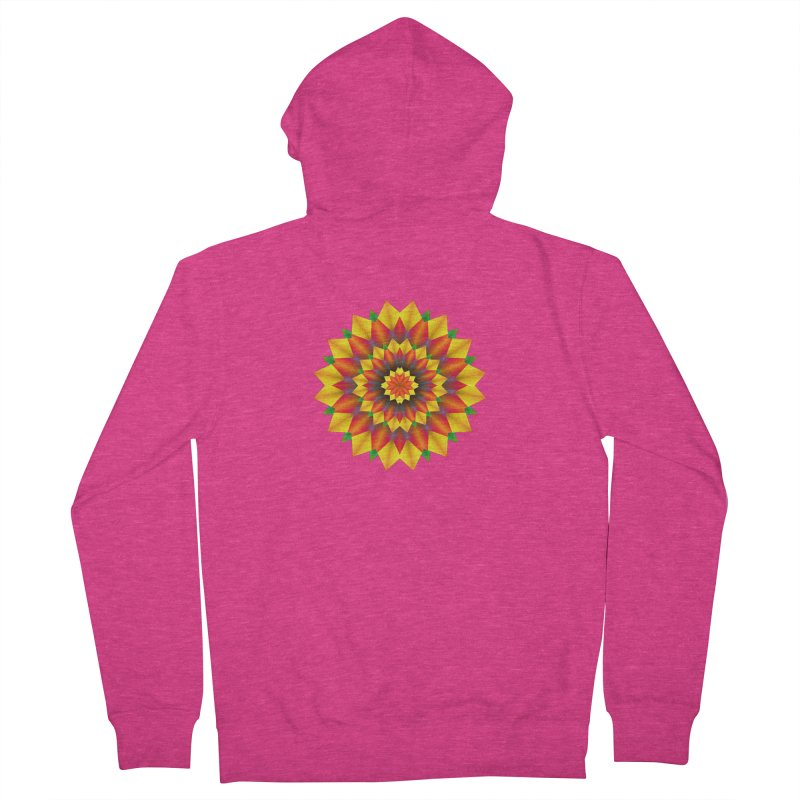 Abstract colorful flowers Mandala Women's Zip-Up Hoody by fruityshapes's Shop