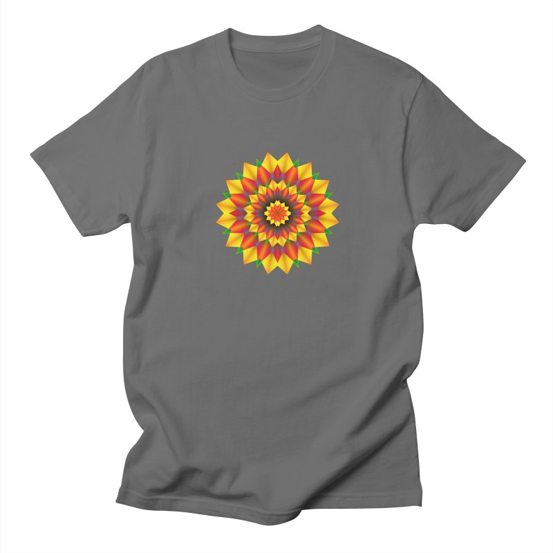 Abstract colorful flowers Mandala Men's T-Shirt by fruityshapes's Shop