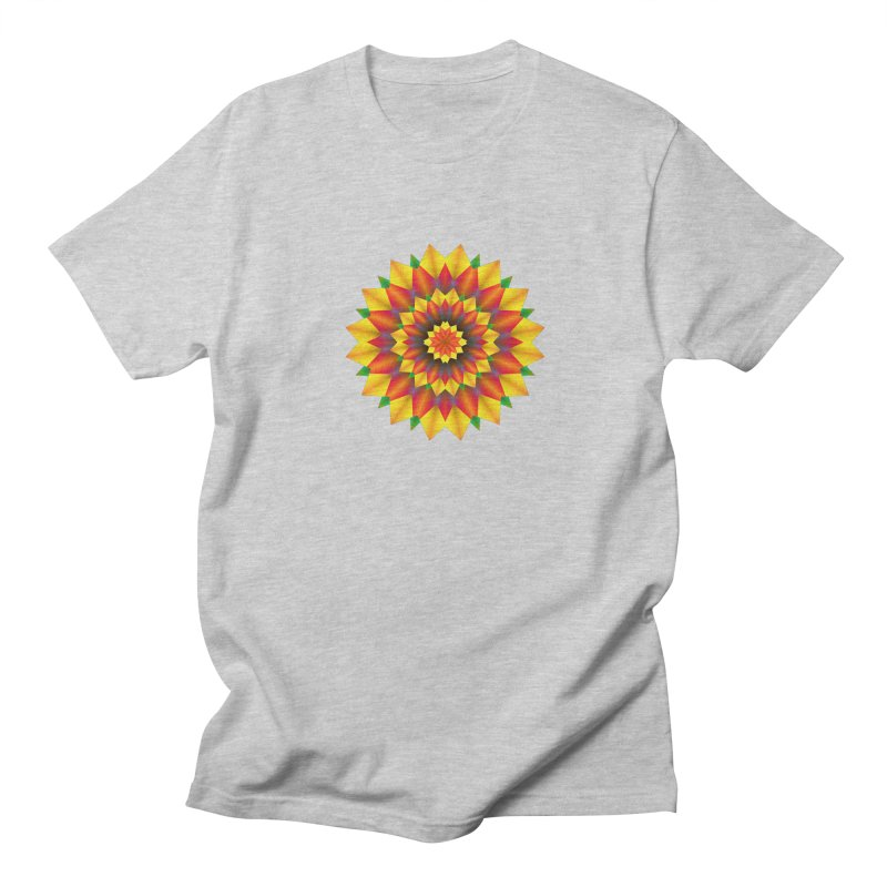 Abstract colorful flowers Mandala Women's Unisex T-Shirt by fruityshapes's Shop