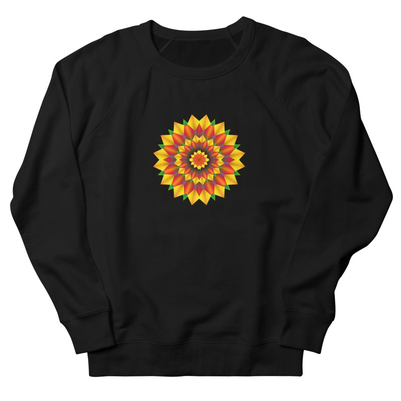 Abstract colorful flowers Mandala Women's French Terry Sweatshirt by fruityshapes's Shop