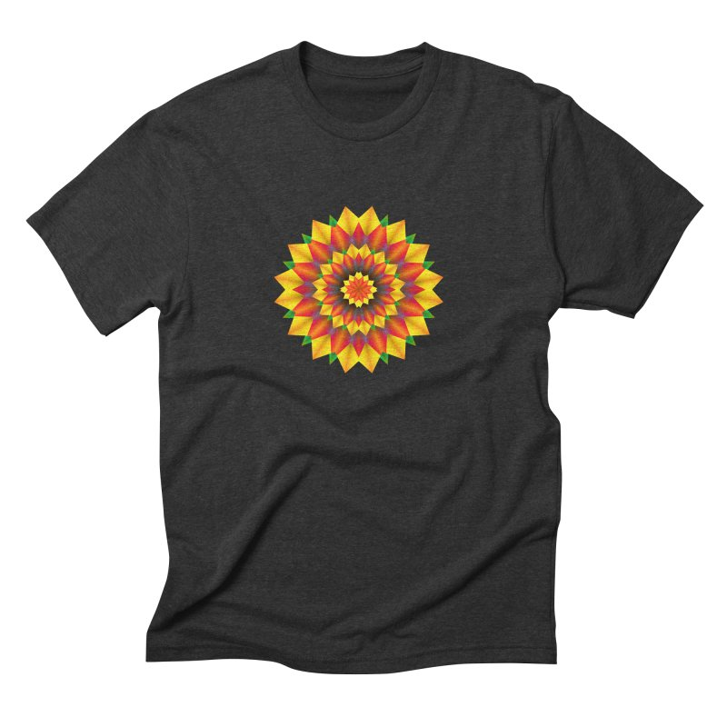 Abstract colorful flowers Mandala Men's Triblend T-Shirt by fruityshapes's Shop