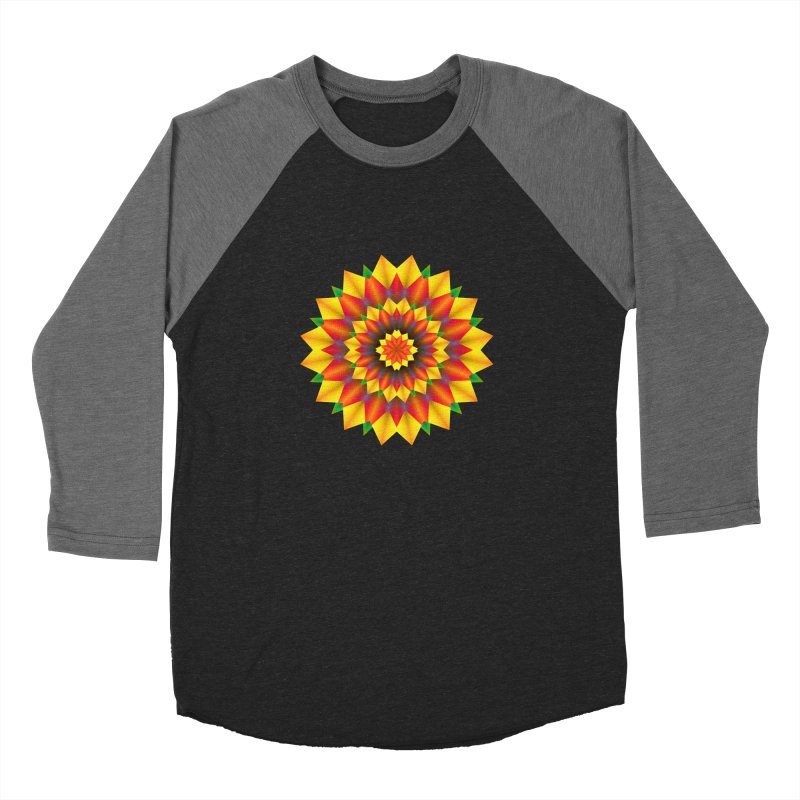 Abstract colorful flowers Mandala Men's Baseball Triblend Longsleeve T-Shirt by fruityshapes's Shop