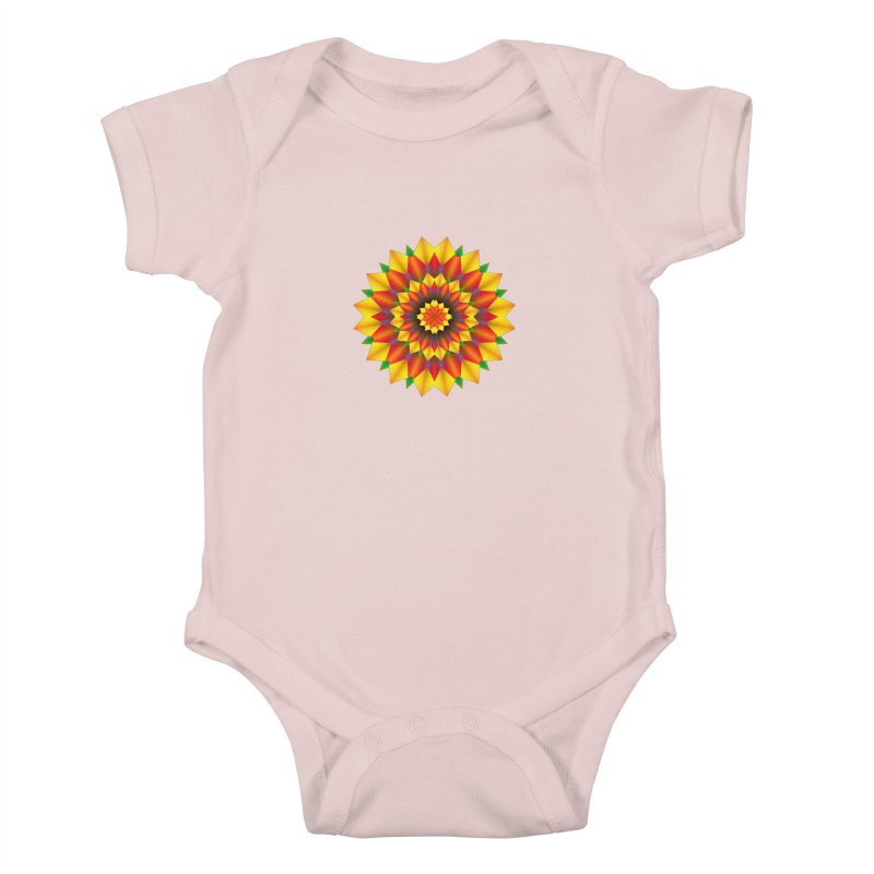 Abstract colorful flowers Mandala Kids Baby Bodysuit by fruityshapes's Shop