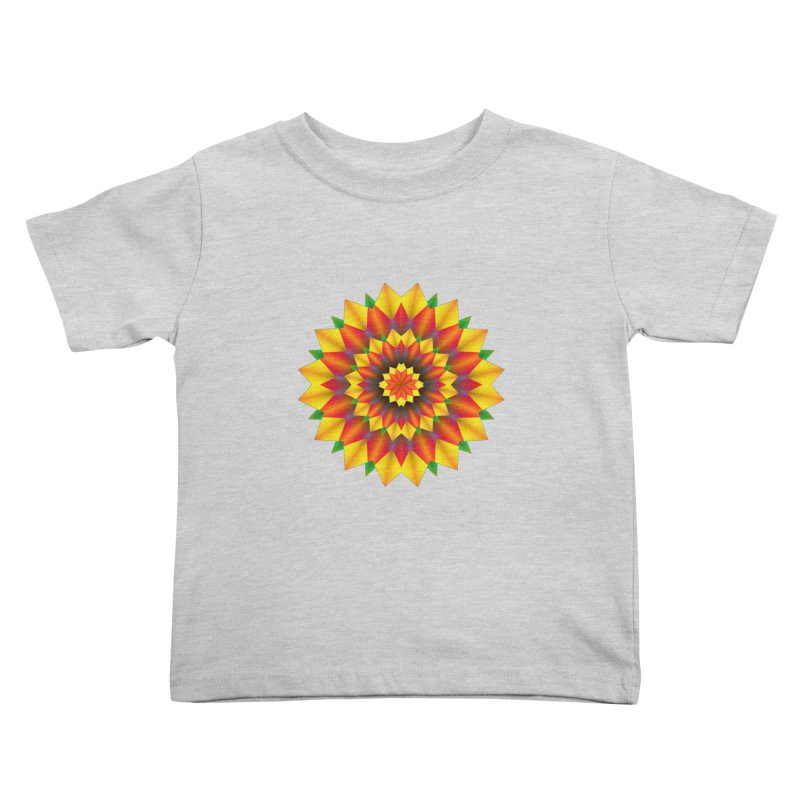 Abstract colorful flowers Mandala Kids Toddler T-Shirt by fruityshapes's Shop
