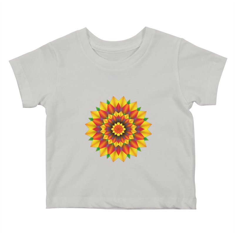 Abstract colorful flowers Mandala Kids Baby T-Shirt by fruityshapes's Shop