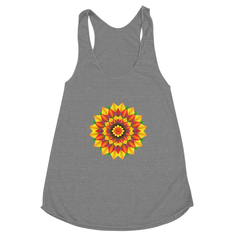 Abstract colorful flowers Mandala Women's Tank by fruityshapes's Shop