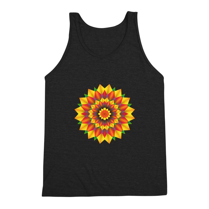 Abstract colorful flowers Mandala Men's Tank by fruityshapes's Shop