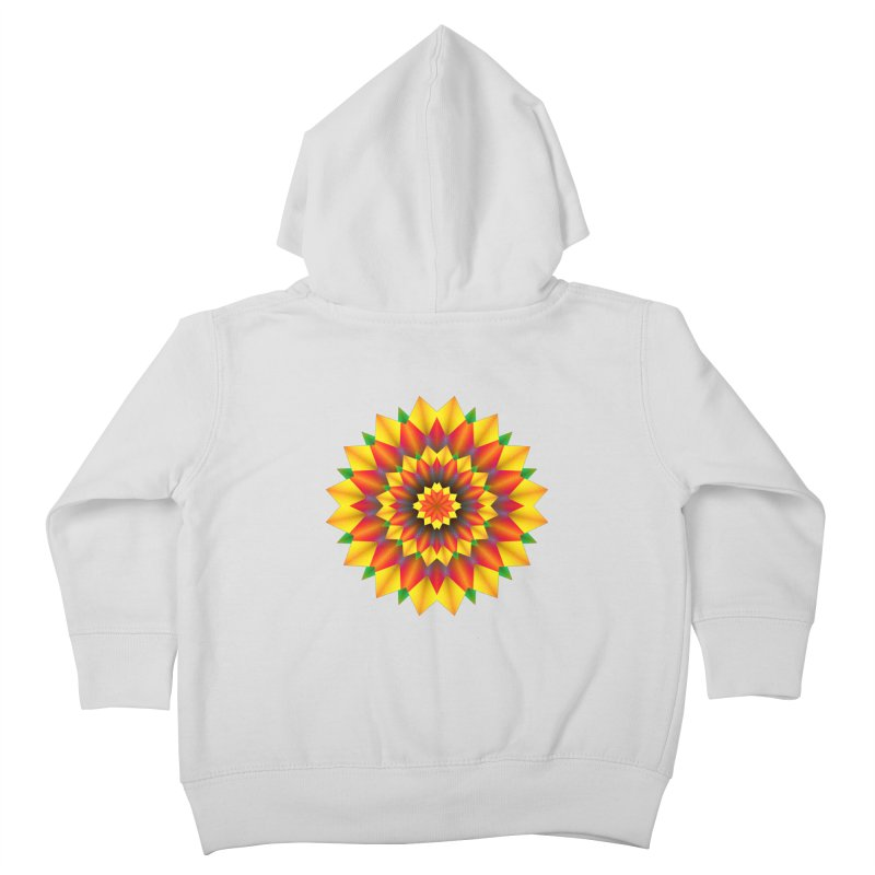 Abstract colorful flowers Mandala Kids Toddler Zip-Up Hoody by fruityshapes's Shop