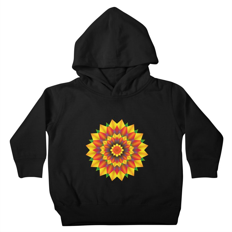 Abstract colorful flowers Mandala Kids Toddler Pullover Hoody by fruityshapes's Shop