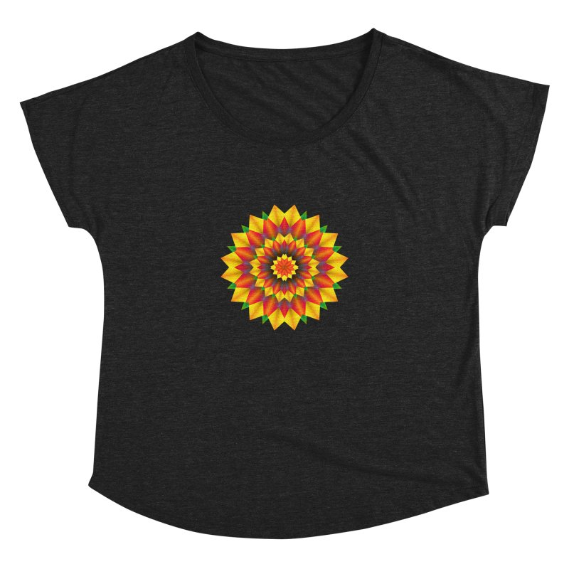 Abstract colorful flowers Mandala Women's Dolman Scoop Neck by fruityshapes's Shop