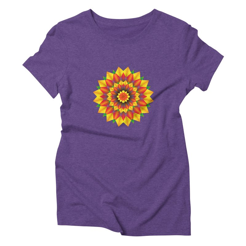 Abstract colorful flowers Mandala Women's Triblend T-Shirt by fruityshapes's Shop