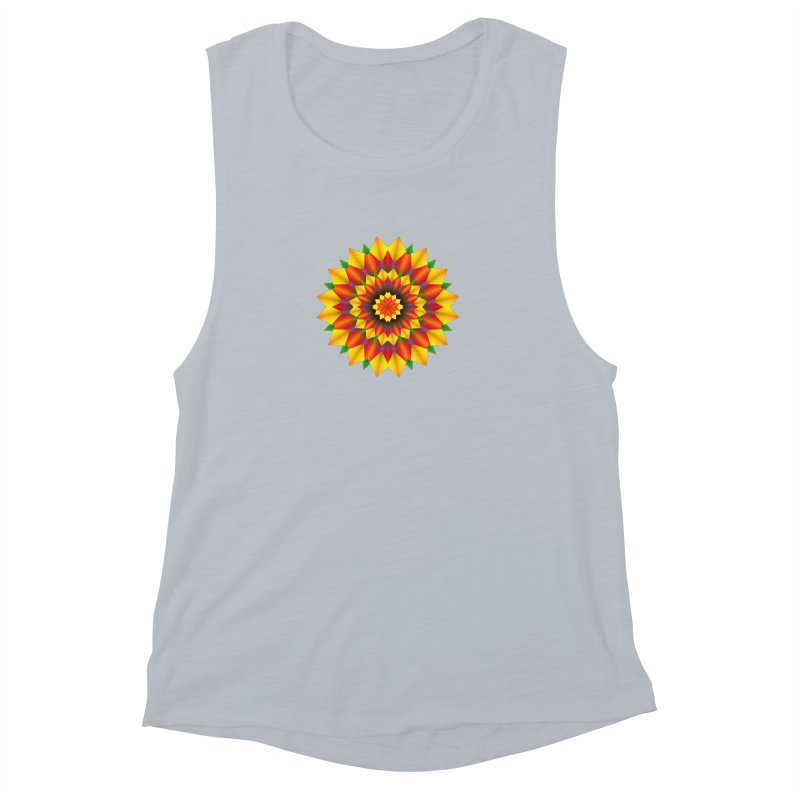 Abstract colorful flowers Mandala Women's Muscle Tank by fruityshapes's Shop