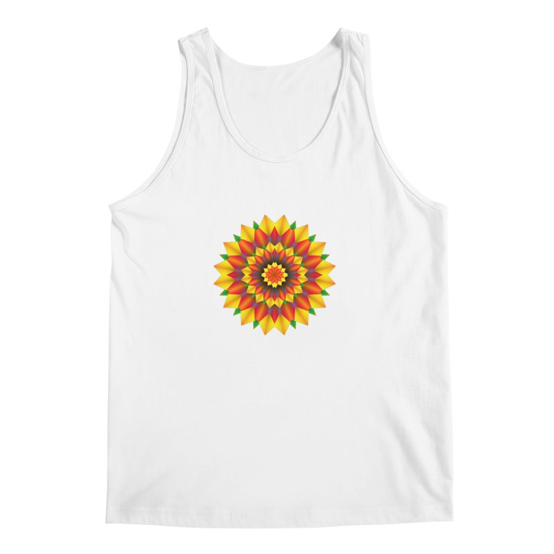 Abstract colorful flowers Mandala Men's Regular Tank by fruityshapes's Shop
