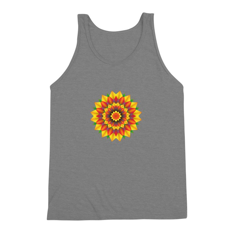 Abstract colorful flowers Mandala Men's Triblend Tank by fruityshapes's Shop
