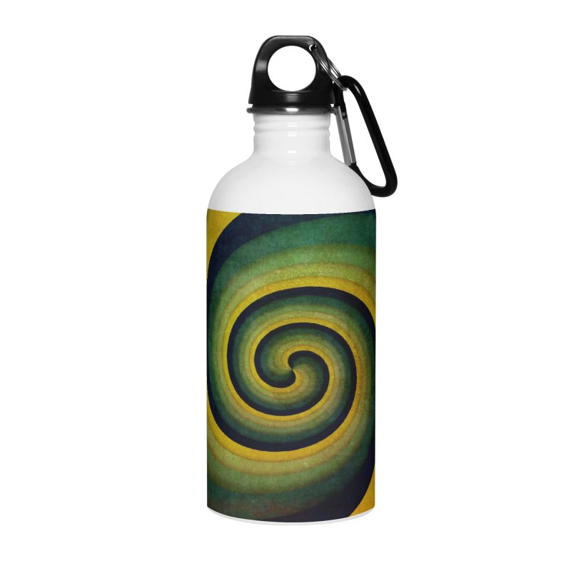 Green Swirl Accessories Water Bottle by fruityshapes's Shop