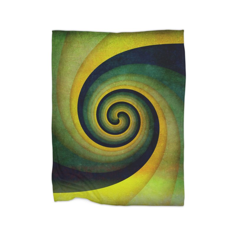 Green Swirl Home Fleece Blanket Blanket by fruityshapes's Shop