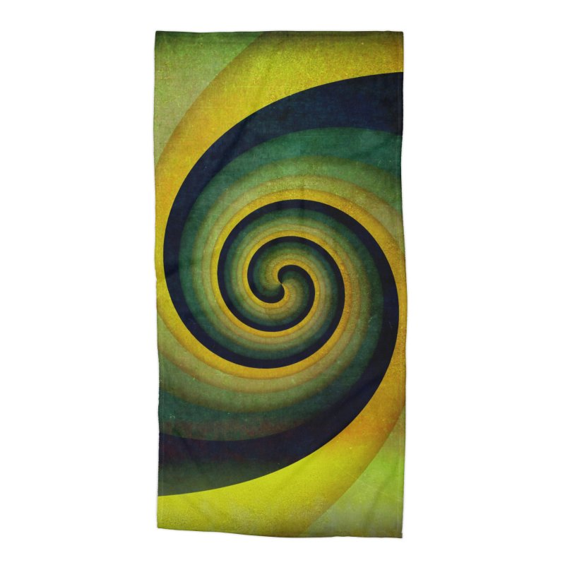 Green Swirl Accessories Beach Towel by fruityshapes's Shop