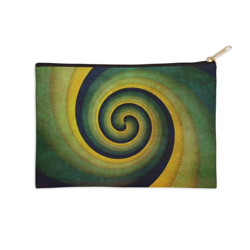 Green Swirl Accessories Zip Pouch by fruityshapes's Shop