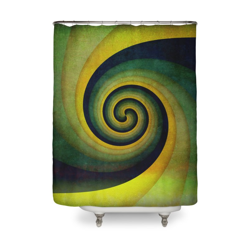 Green Swirl Home Shower Curtain by fruityshapes's Shop
