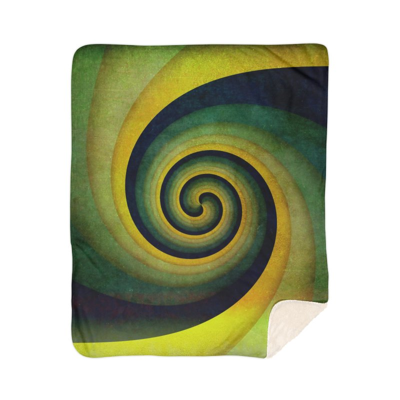 Green Swirl Home Sherpa Blanket Blanket by fruityshapes's Shop