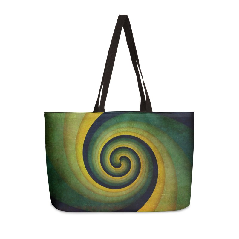 Green Swirl Accessories Weekender Bag Bag by fruityshapes's Shop