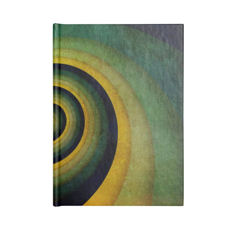 Green Swirl Accessories Lined Journal Notebook by fruityshapes's Shop