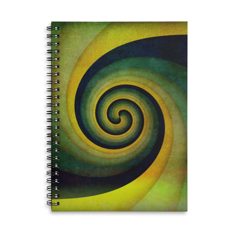 Green Swirl Accessories Lined Spiral Notebook by fruityshapes's Shop