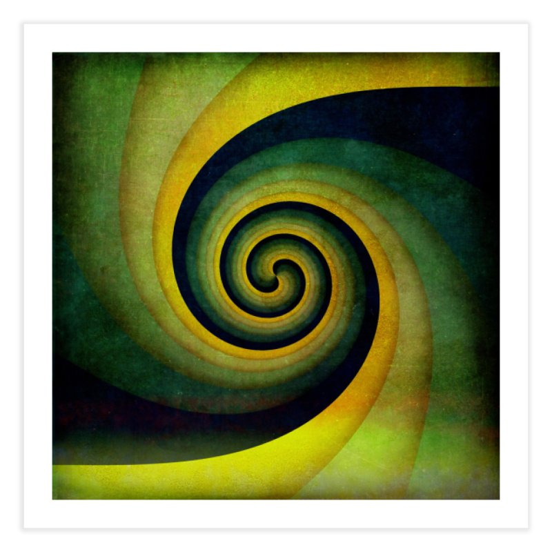 Green Swirl Home Fine Art Print by fruityshapes's Shop