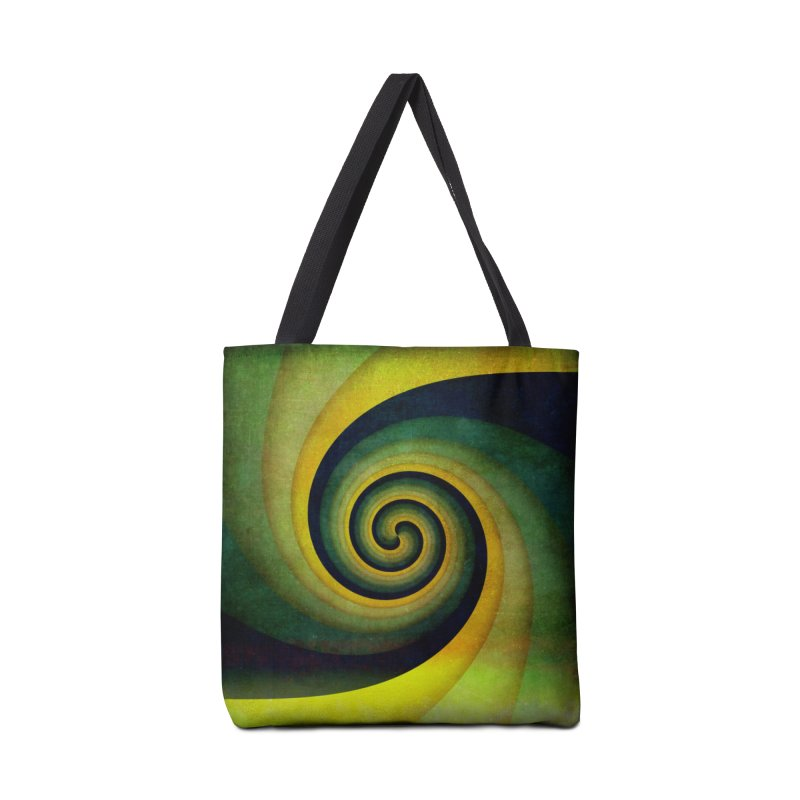 Green Swirl Accessories Tote Bag Bag by fruityshapes's Shop