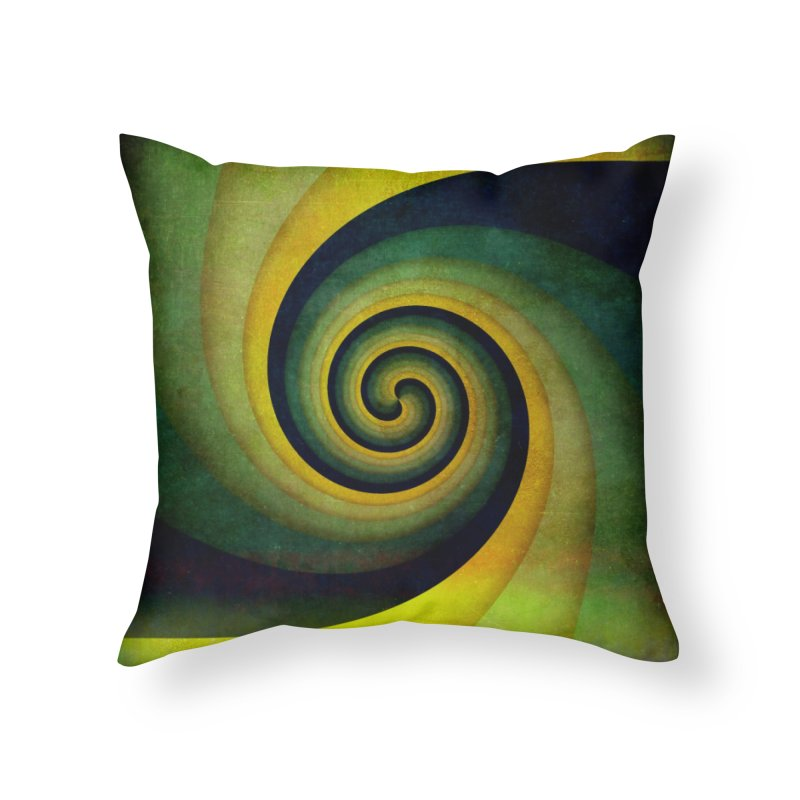 Green Swirl Home Throw Pillow by fruityshapes's Shop