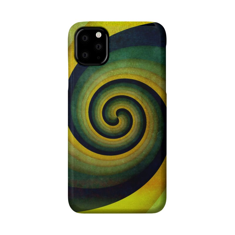 Green Swirl Accessories Phone Case by fruityshapes's Shop
