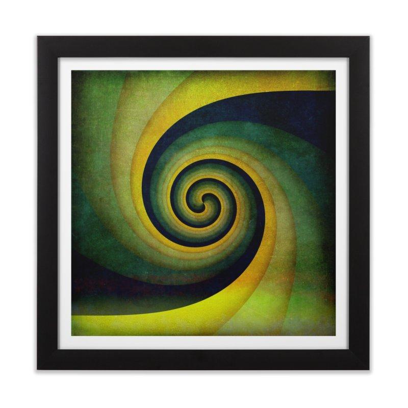 Green Swirl Home Framed Fine Art Print by fruityshapes's Shop