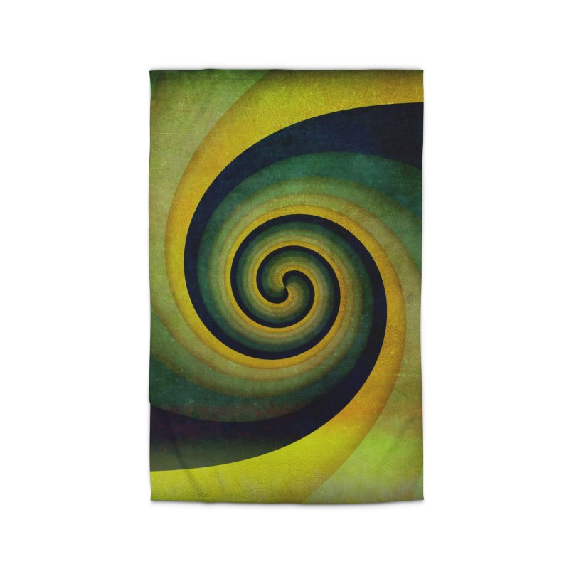 Green Swirl Home Rug by fruityshapes's Shop