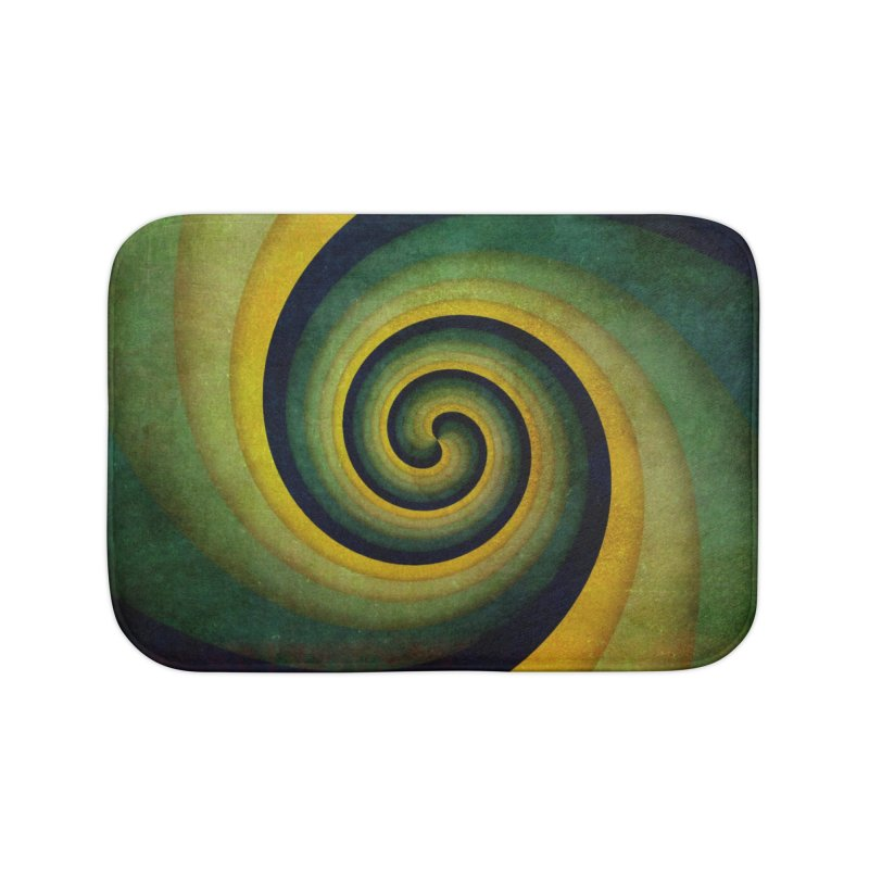 Green Swirl Home Bath Mat by fruityshapes's Shop