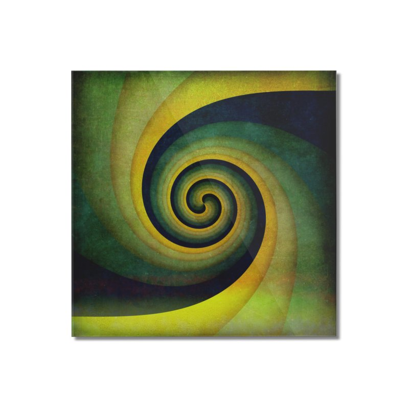 Green Swirl Home Mounted Acrylic Print by fruityshapes's Shop