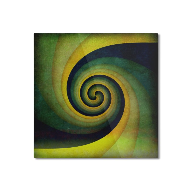 Green Swirl Home Mounted Aluminum Print by fruityshapes's Shop