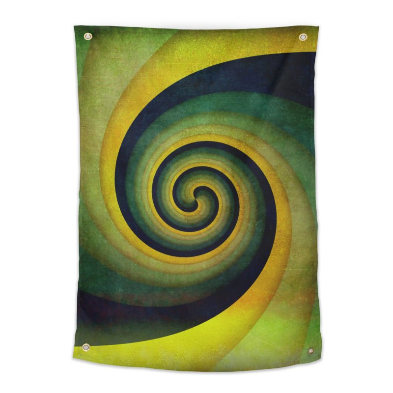 Green Swirl Home Tapestry by fruityshapes's Shop