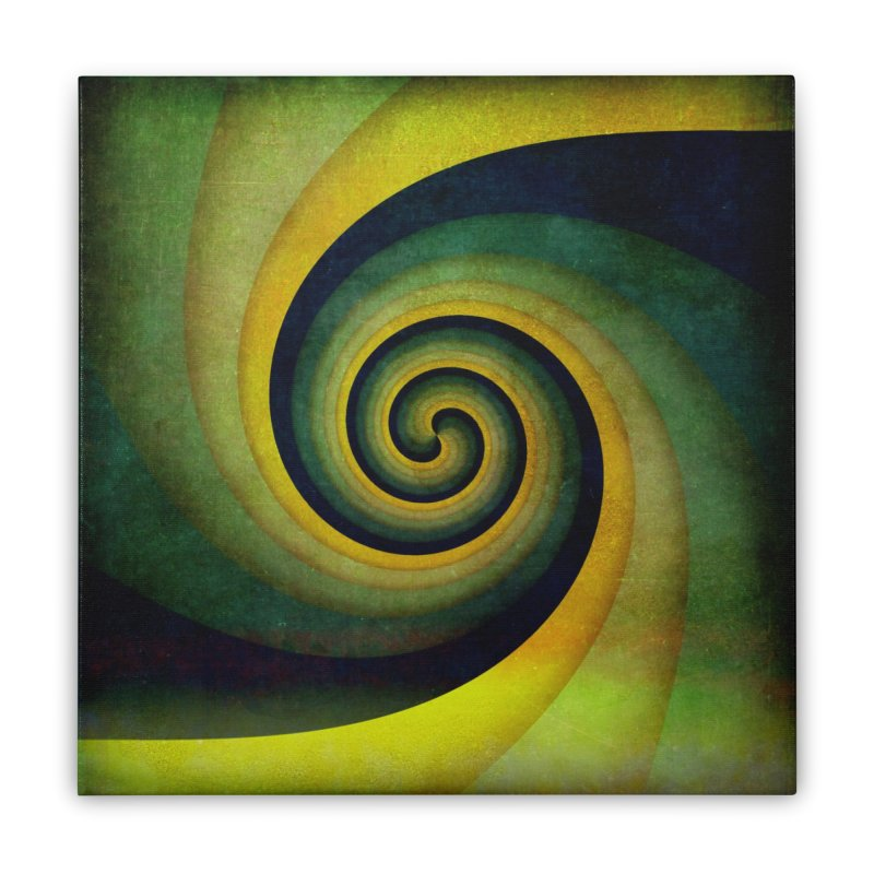 Green Swirl Home Stretched Canvas by fruityshapes's Shop